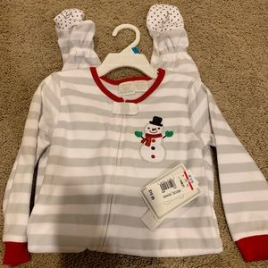 Snowman Footed Pajamas. Christmas. New with Tags